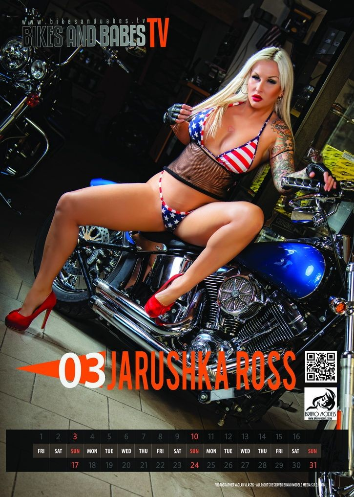 Bikes and Babes TV Girl of march 2019 - Pornstar Jarushka Ross