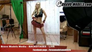 Bravo Models Media - Prague - photo shoots backstages - erotic model FLORANE RUSSEL - 01