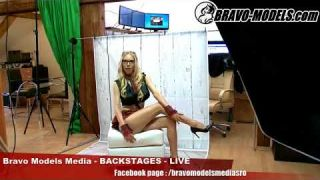 Bravo Models Media - Prague - photo shoots backstages - erotic model FLORANE RUSSEL - 02