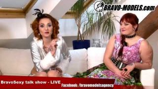 BravoSexy talk show 15/2017 se Sarah Star host GINGER WIXXIE - burlesque and pin-up model
