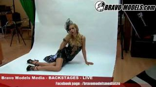 Bravo Models Media - Prague - photo shoots backstages - erotic model FLORANE RUSSEL - 03